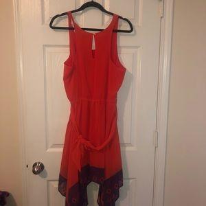 Bright orange and navy sundress. Worn once!